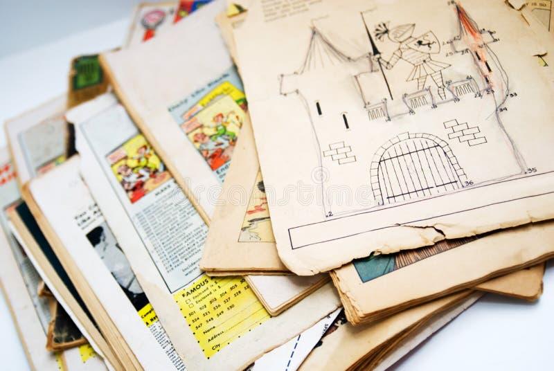 Vecchi libri di fumetti fotografia stock libera da diritti