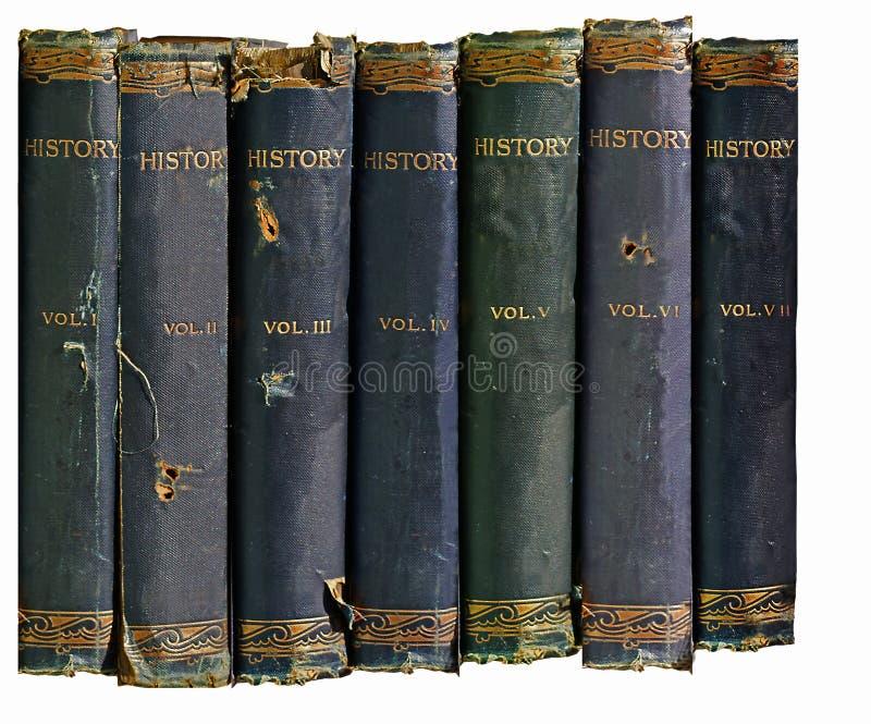 Vecchi libri di storia   fotografia stock libera da diritti