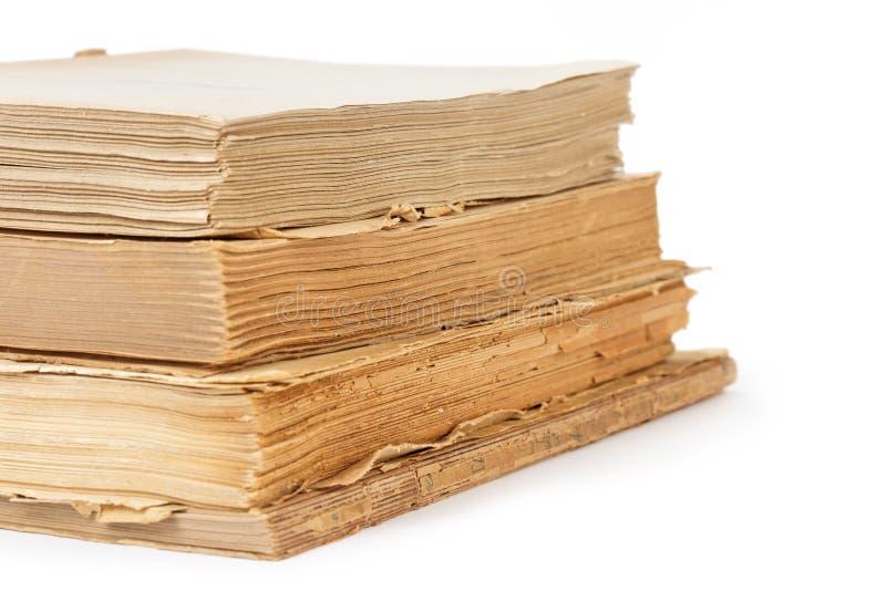 Vecchi libri isolati su bianco fotografie stock libere da diritti