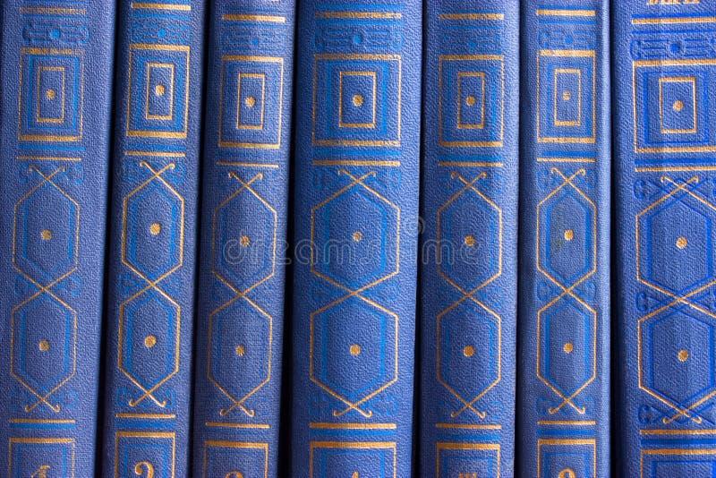 Vecchi libri su uno scaffale di legno immagini stock libere da diritti
