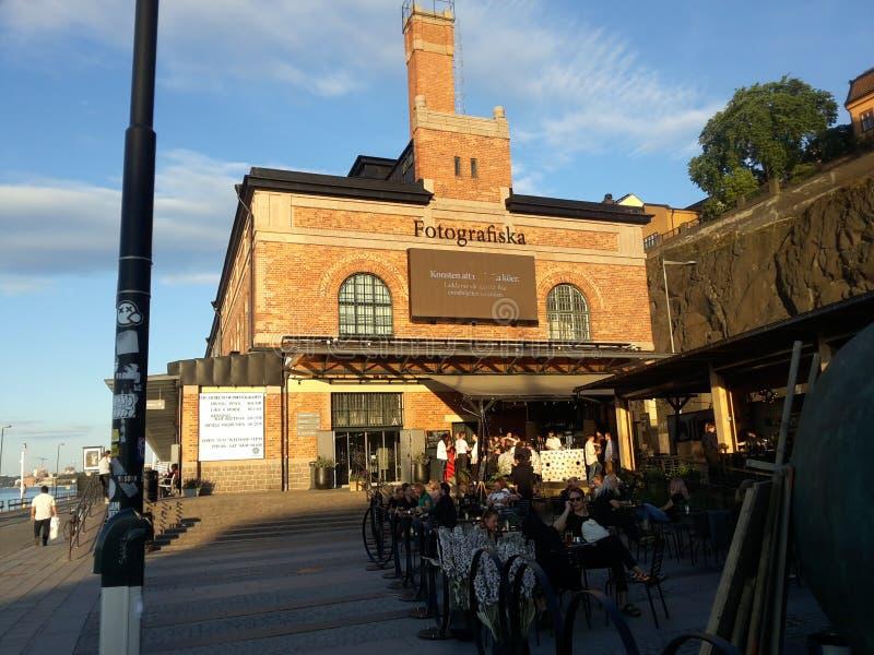 Vecchi musei di Stoccolma fotografia stock