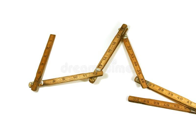 Vecchi nastro/righello di misurazione fotografie stock libere da diritti