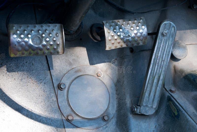 Vecchi pedali usati fotografia stock