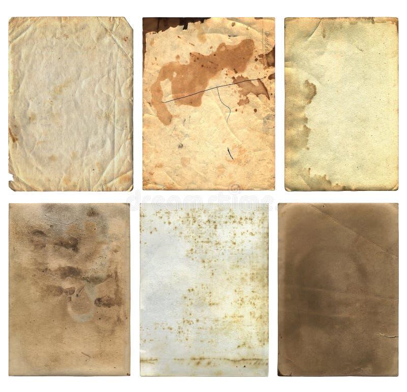 Download Vecchi Pezzi 2 Della Carta Di Lerciume Fotografia Stock - Immagine di usato, vernice: 30828006
