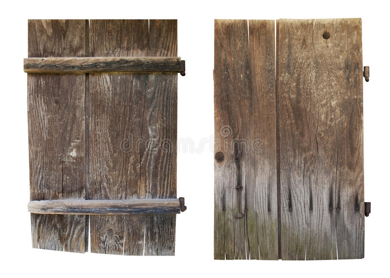 Vecchi portelli di legno immagini stock libere da diritti