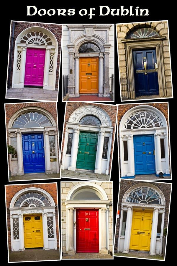Vecchi portelli georgiani di Dublino fotografia stock libera da diritti