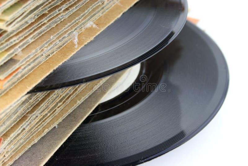 Vecchi record di vinile immagini stock libere da diritti