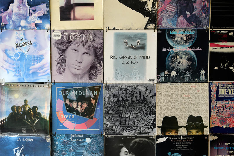 Vecchi record di vinile fotografia stock