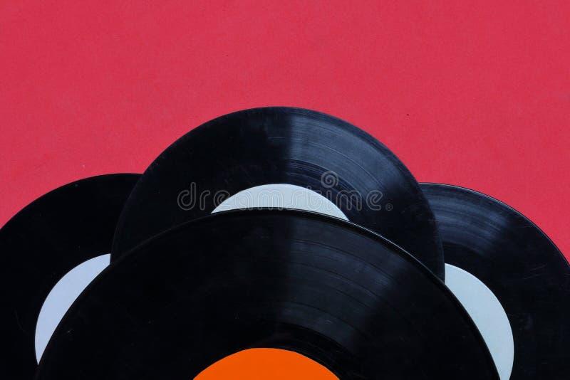 Vecchi record di vinile Consumato e sporco fotografia stock libera da diritti