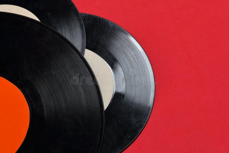 Vecchi record di vinile Consumato e sporco immagini stock libere da diritti