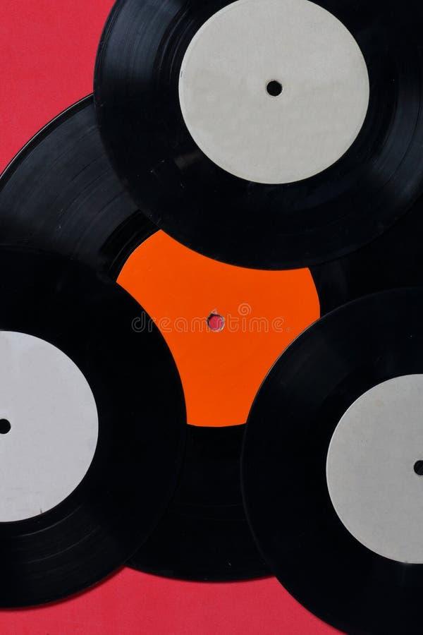 Vecchi record di vinile Consumato e sporco fotografie stock libere da diritti