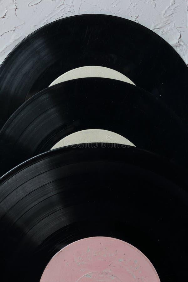 Vecchi record di vinile Consumato e sporco fotografia stock