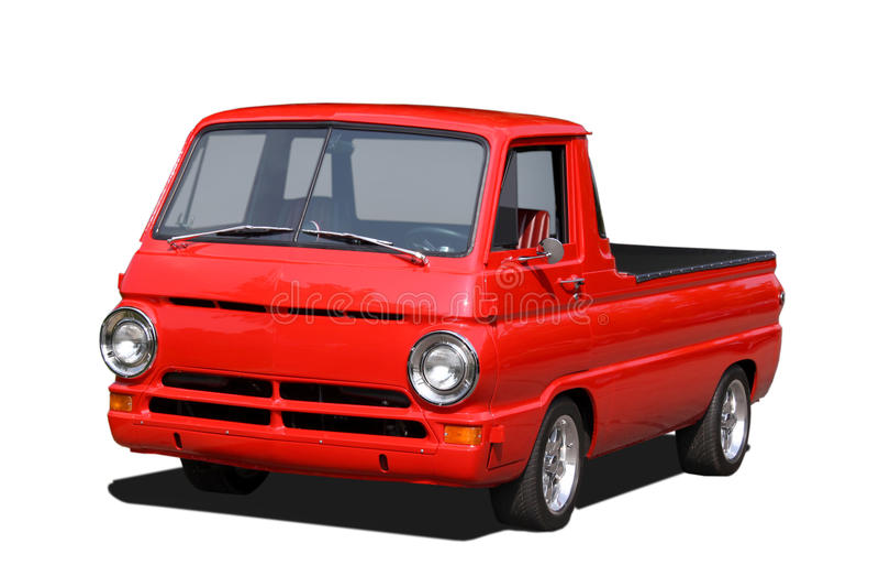 Vecchi rossi prendono il camion immagini stock libere da diritti