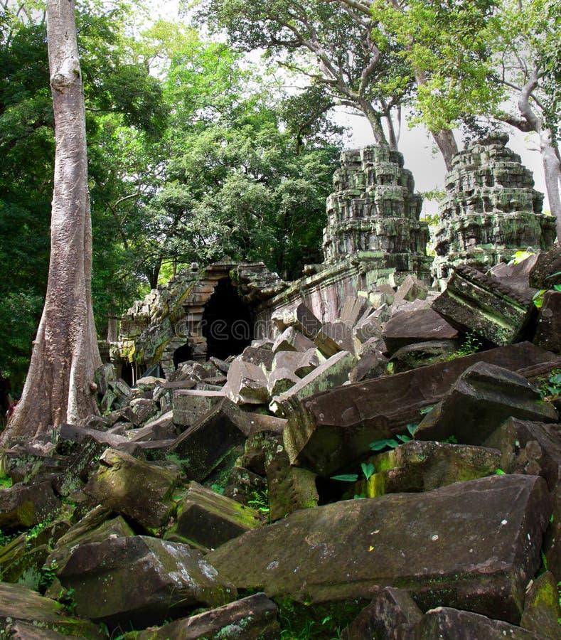 Vecchi ruines di Angkor Wat fotografia stock libera da diritti