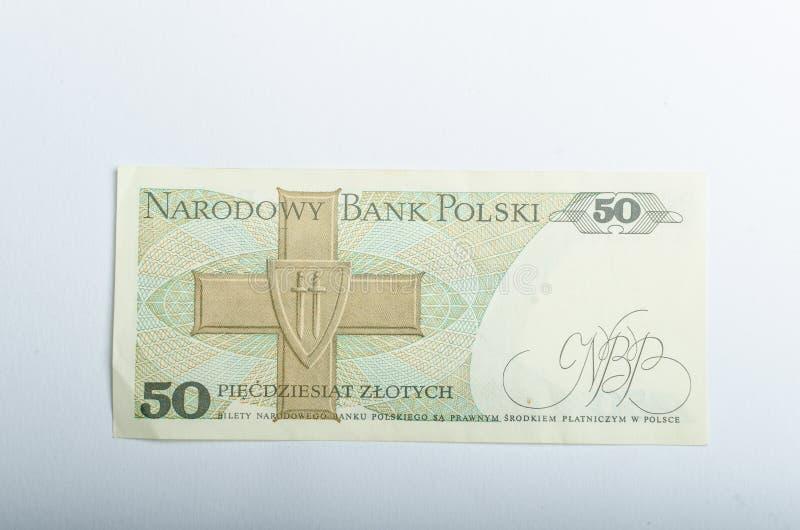 Vecchi soldi polacchi delle banconote fotografie stock