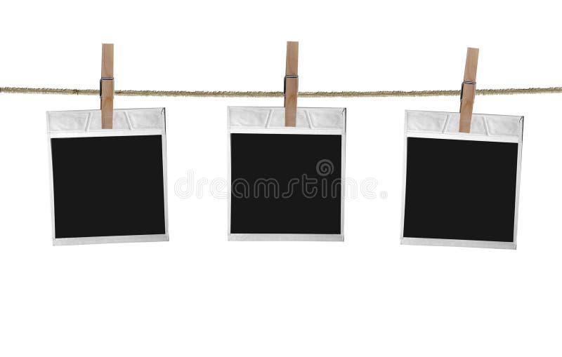 Vecchi spazii in bianco della pellicola illustrazione di stock
