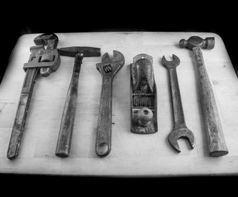 Vecchi strumenti arrugginiti immagini stock libere da diritti