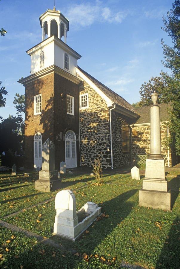 Vecchi svedesi chiesa e cimitero, Wilmington DE fotografia stock