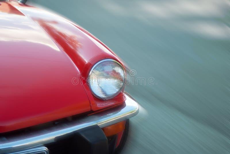 Vecchia accelerazione del faro dell'automobile immagine stock libera da diritti