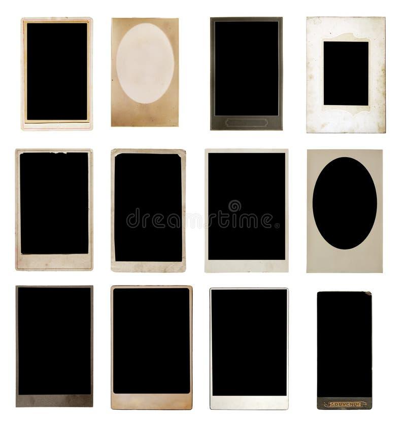Vecchia accumulazione delle foto fotografie stock libere da diritti