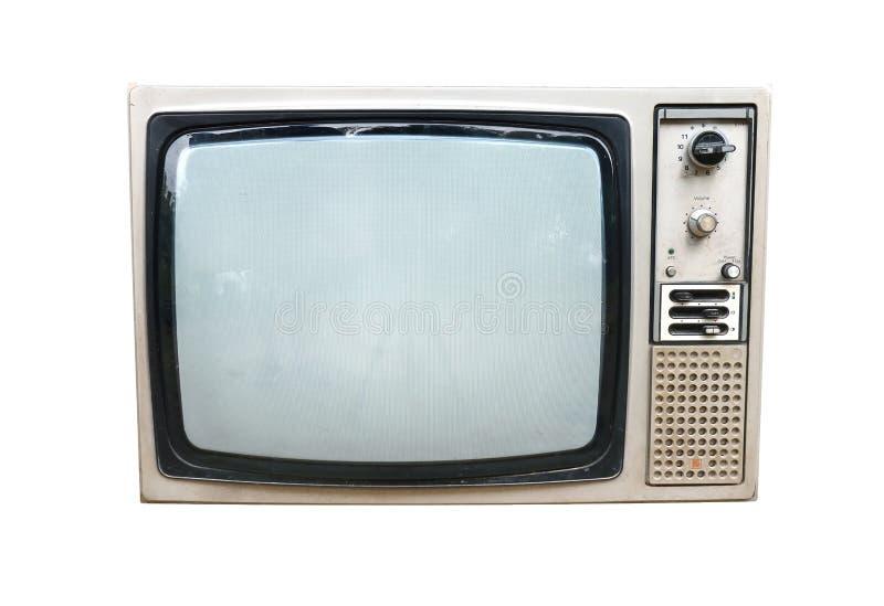 Vecchia annata TV isolata fotografie stock