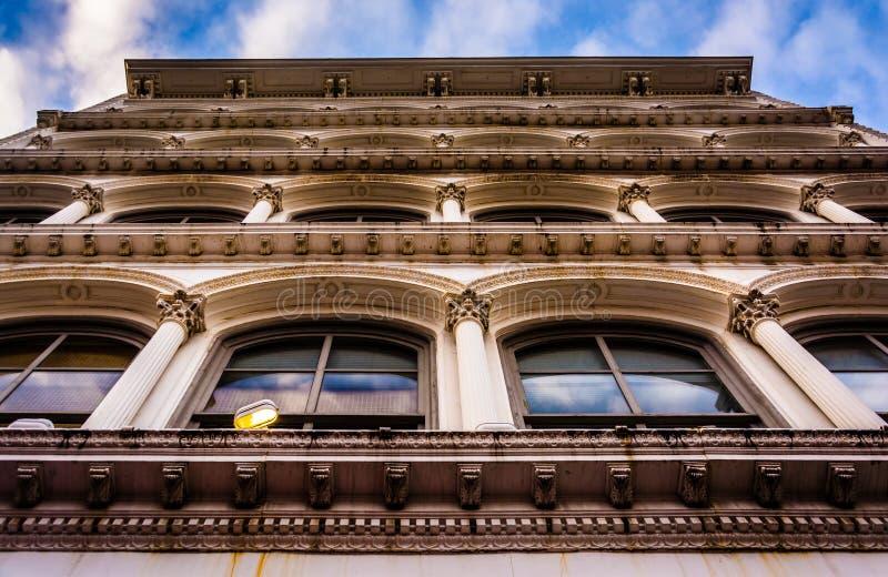 Vecchia architettura a Baltimora, Maryland fotografia stock