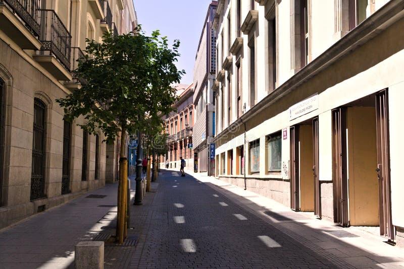 Vecchia architettura della via di Madrid fotografie stock