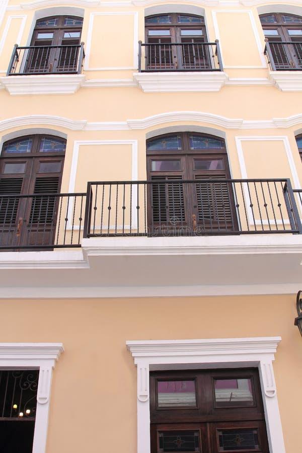 Vecchia architettura di San Juan fotografie stock libere da diritti