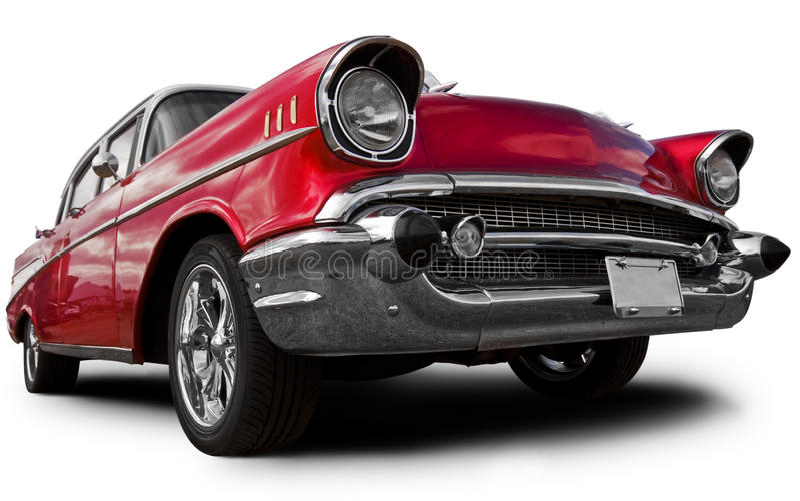 Vecchia automobile americana fotografia stock