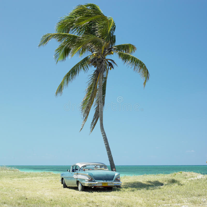 Vecchia automobile, Cuba fotografia stock