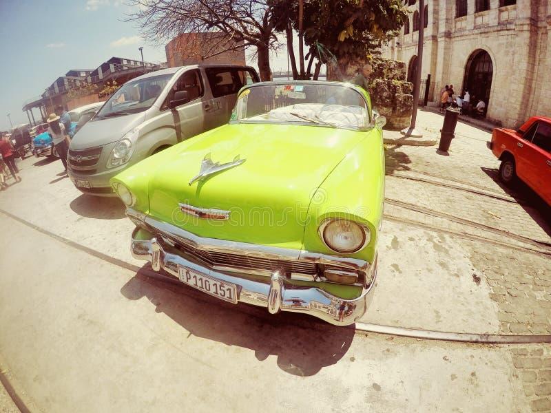 Vecchia automobile di Cuba fotografie stock libere da diritti