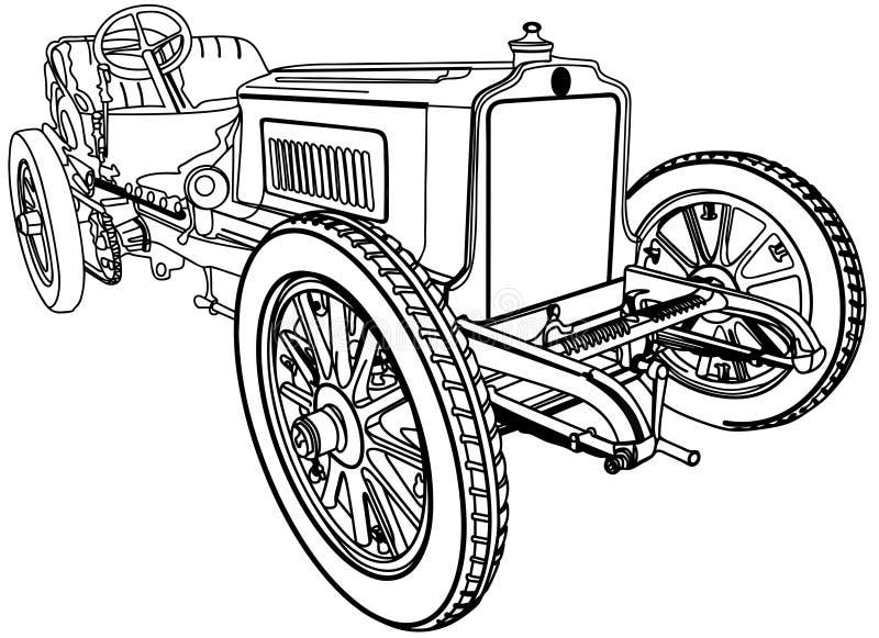 Vecchia automobile molto piacevole illustrazione vettoriale