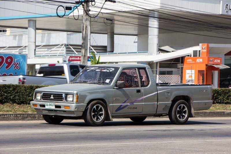 Vecchia automobile privata della raccolta, ciclone di Mitsubishi fotografia stock libera da diritti
