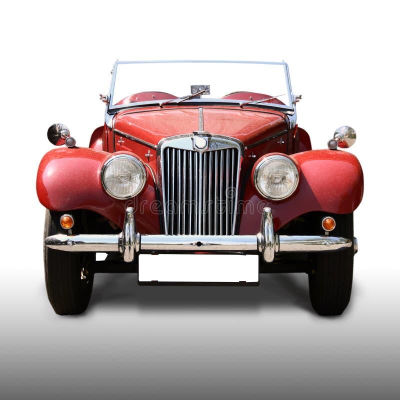 Vecchia automobile rossa antica immagine stock