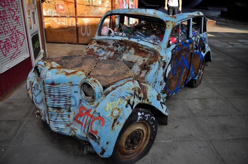 Vecchia automobile sovietica fotografia stock