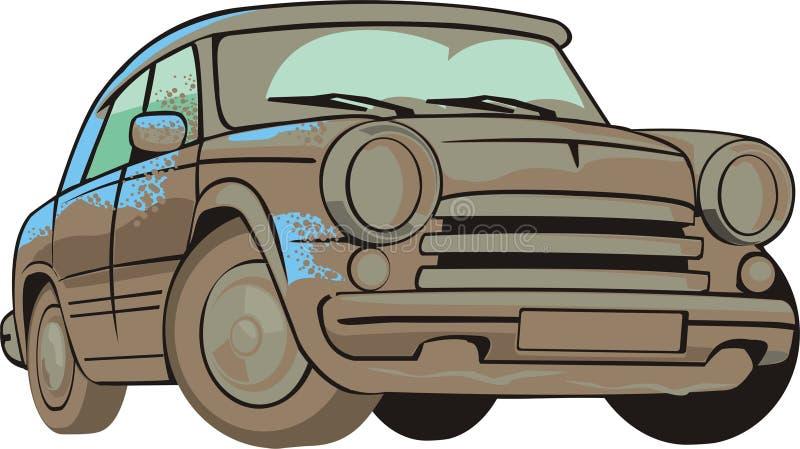 vecchia automobile sporca illustrazione di stock