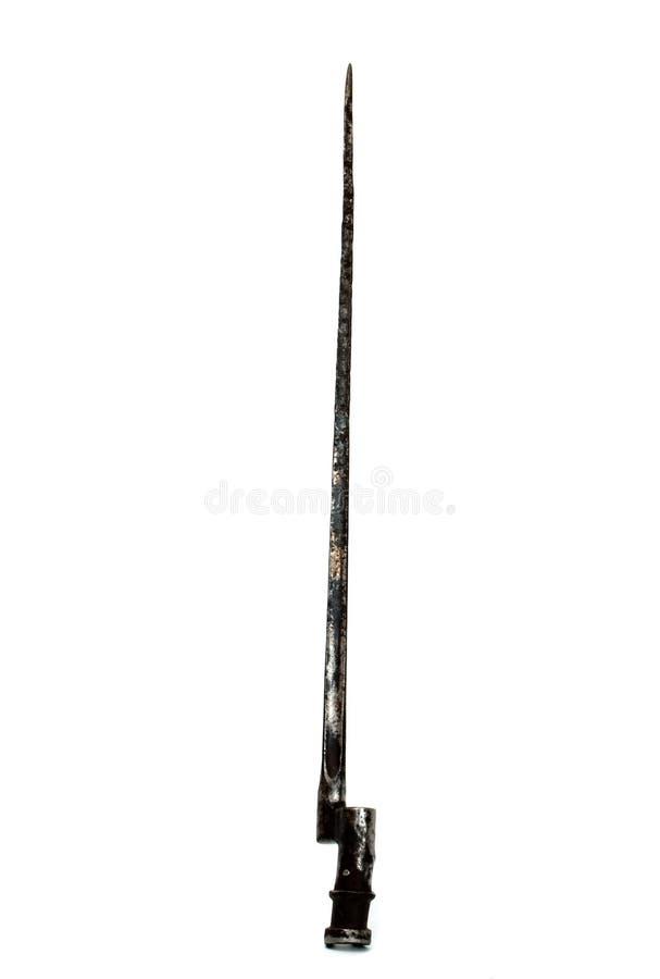 Vecchia baionetta fotografie stock libere da diritti