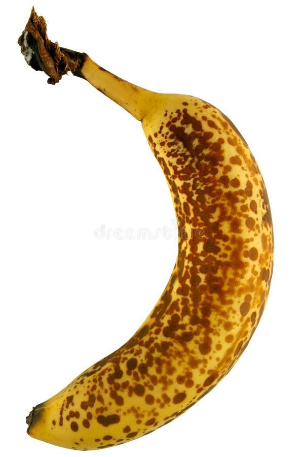 Vecchia banana macchiata fotografie stock