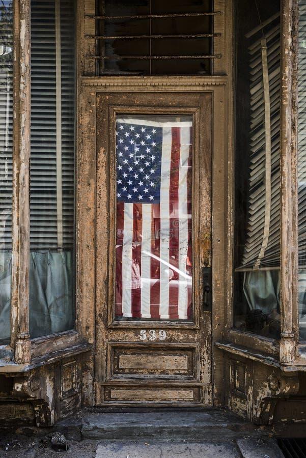 Vecchia bandiera fotografie stock libere da diritti