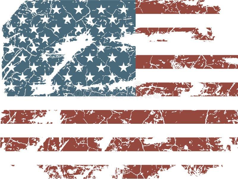 Vecchia bandiera americana royalty illustrazione gratis