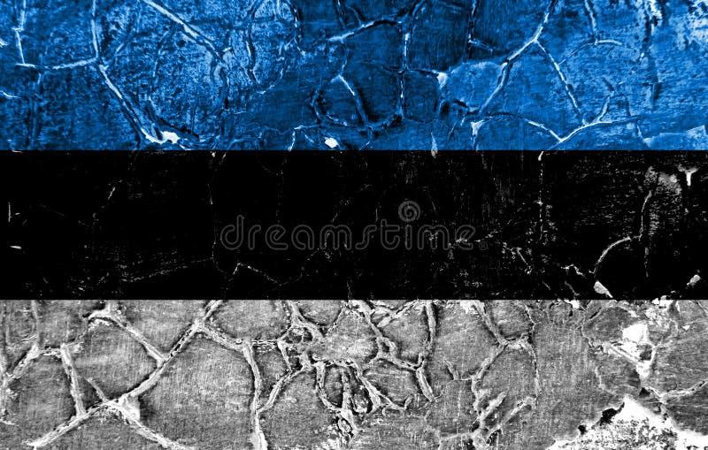 Vecchia bandiera del fondo di lerciume dell'Estonia immagini stock