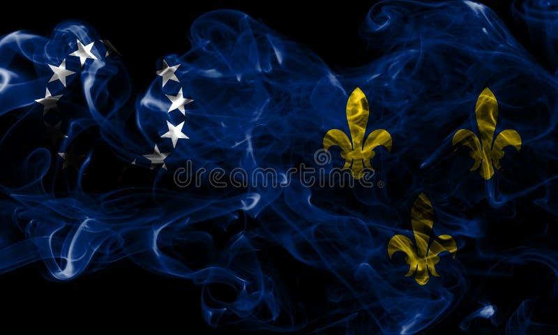 Vecchia bandiera del fumo della città di Louisville, stato del Kentucky, Stati Uniti di immagini stock libere da diritti