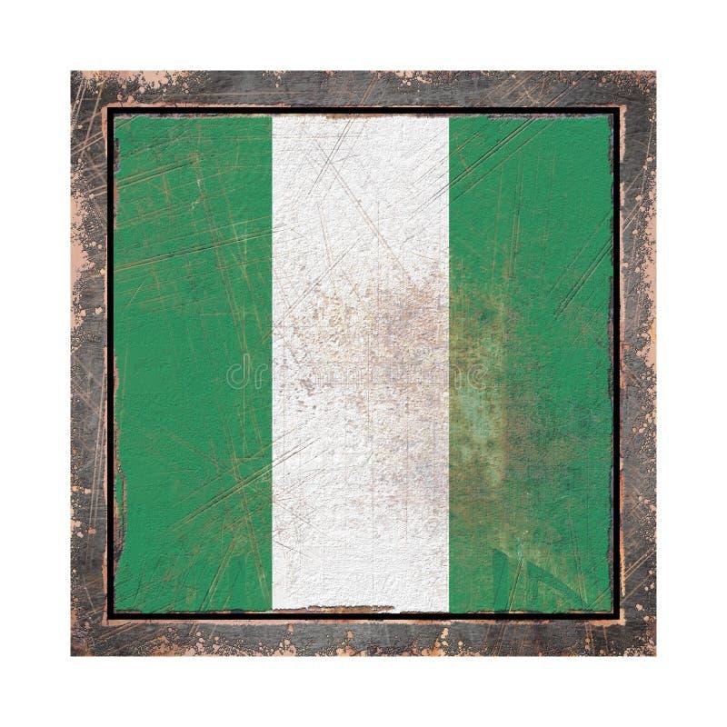 Vecchia bandiera della Nigeria illustrazione di stock