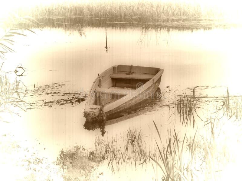 Vecchia barca dell'annata immagine stock libera da diritti