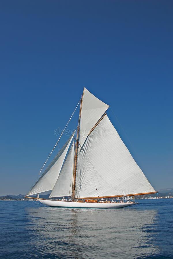 Vecchia barca di navigazione fotografia stock libera da diritti