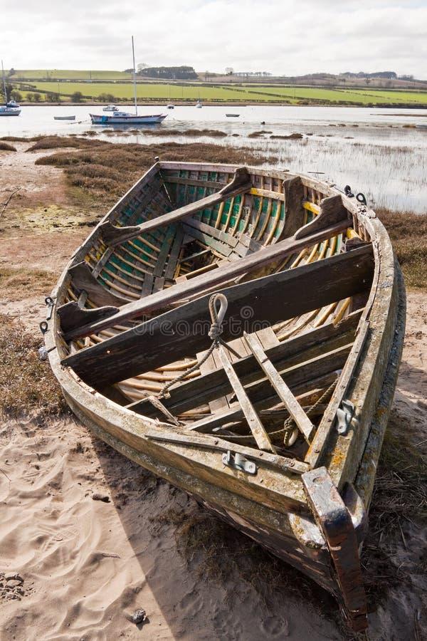 Vecchia barca di rematura immagini stock libere da diritti