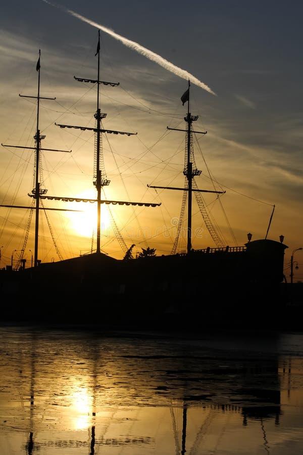 Vecchia barca a vela fotografie stock
