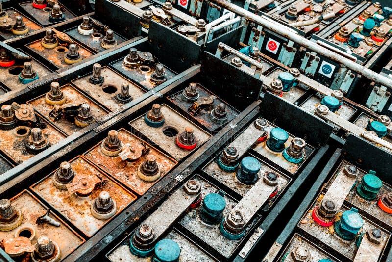 Vecchia batteria sostituibile fotografie stock libere da diritti