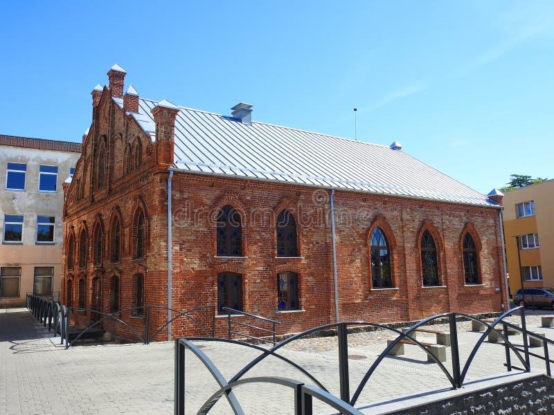Vecchia bella sinagoga degli ebrei lithuania fotografie stock