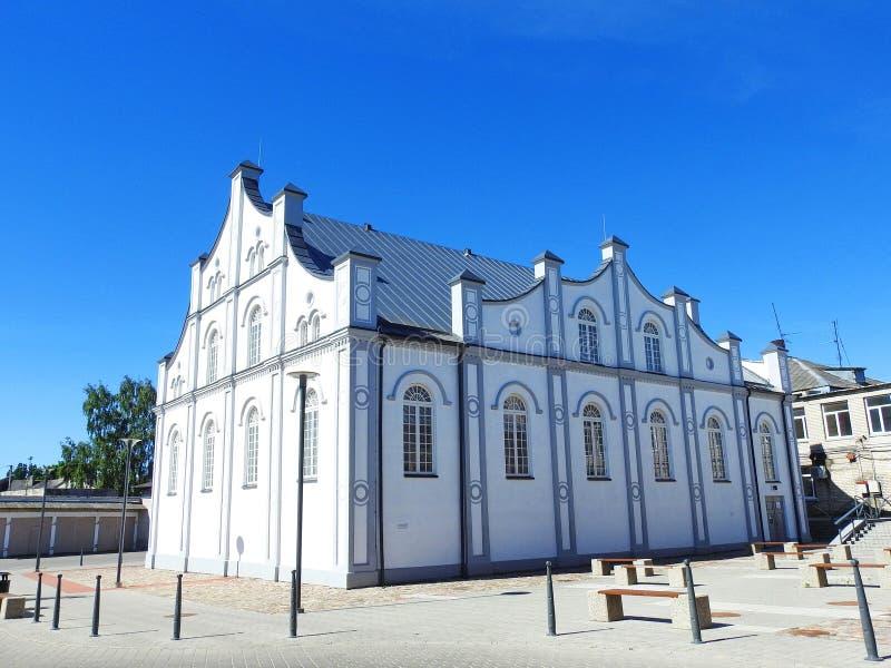 Vecchia bella sinagoga degli ebrei lithuania fotografia stock